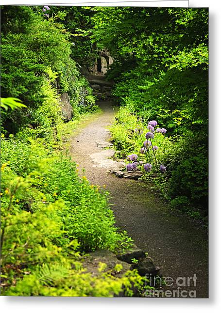 Secluded Greeting Cards - Garden path Greeting Card by Elena Elisseeva