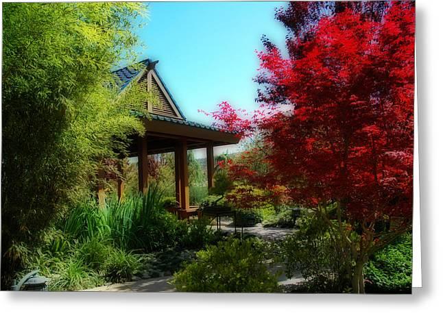 Garden Retreat Greeting Card by Lynn Bauer