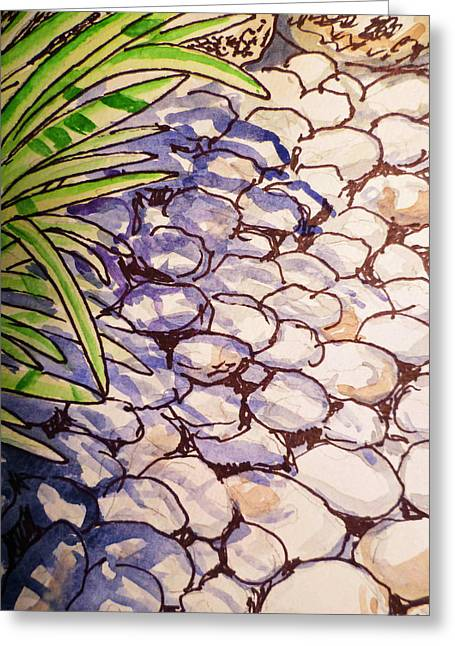 Sketch Book Greeting Cards - Garden Rocks Sketchbook Project Down My Street Greeting Card by Irina Sztukowski