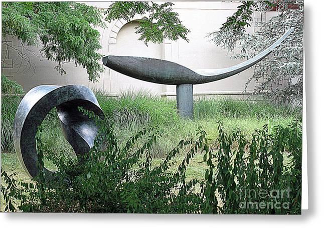 Garden Statuary Greeting Cards - Garden Sculpture Greeting Card by Louise Peardon