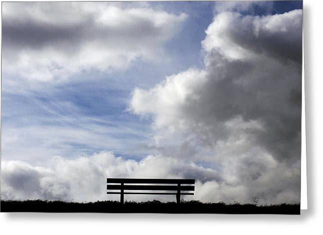 Empty Chairs Greeting Cards - Garden seat Greeting Card by Fabrizio Troiani