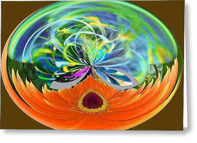 Molly Greeting Cards - Garden Sphere Greeting Card by Molly McPherson