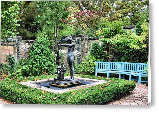 Garden Statuary Greeting Card by Kristin Elmquist