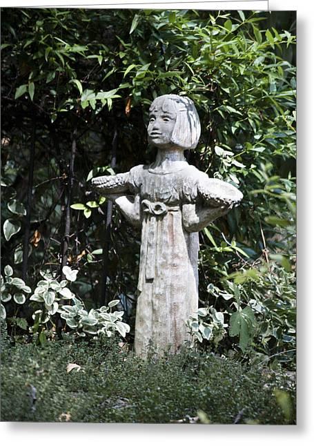 Garden Statuary Greeting Cards - Garden Statuary Greeting Card by Teresa Mucha