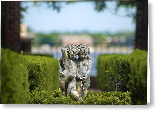 Garden Statuary Greeting Cards - Garden Statue Greeting Card by Tammy McKinley