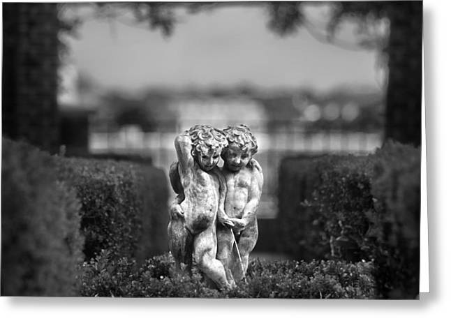 Garden Statuary Greeting Cards - Garden Statues Greeting Card by Tammy McKinley