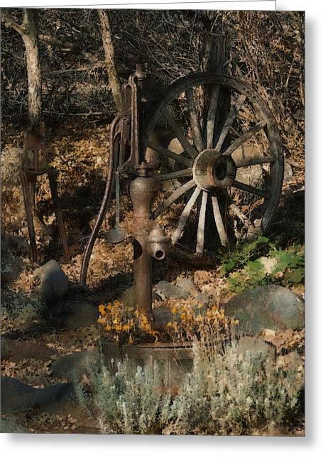 Wagon Wheels Digital Art Greeting Cards - Garden Treasures Greeting Card by Ernie Echols