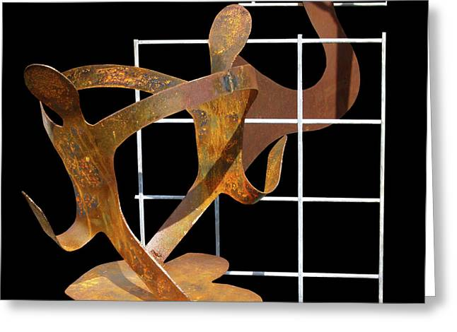 Metal Sculpture Greeting Cards - GardenDancers Greeting Card by Robert Trauth