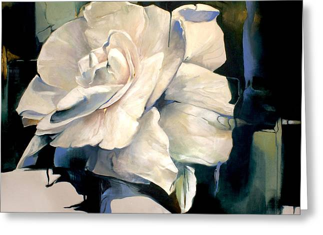 Gardenias Greeting Cards - Gardenia Greeting Card by Lin Petershagen
