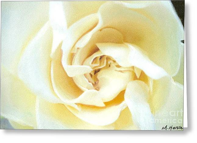 Floral Photographs Pastels Greeting Cards - Gardenia Greeting Card by Mona Younavjak Hansen