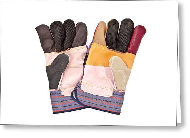 Gardening gloves Greeting Card by Tom Gowanlock