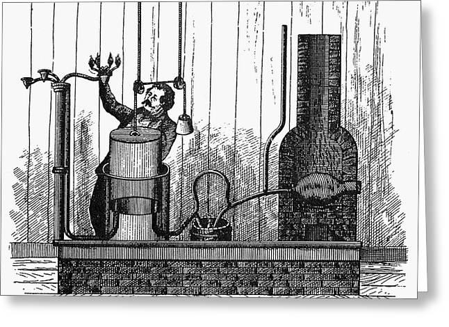 Generators Greeting Cards - Gas Generator, 1805 Greeting Card by Granger