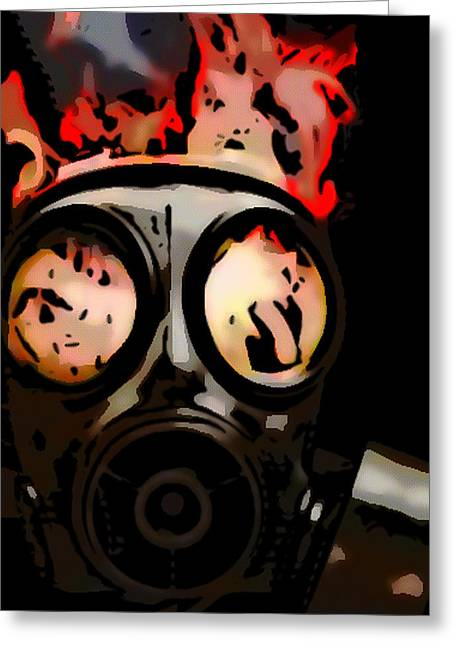 Gas Mask Greeting Card by Rpics Rpics