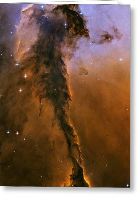Emission Nebula Greeting Cards - Gas Pillar In The Eagle Nebula Greeting Card by Nasaesastscihubble Heritage Team