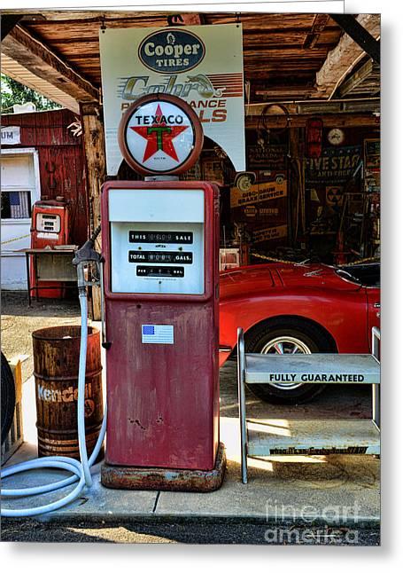 Texaco Sign Greeting Cards - Gas Pump - Texaco Gas Globe Greeting Card by Paul Ward