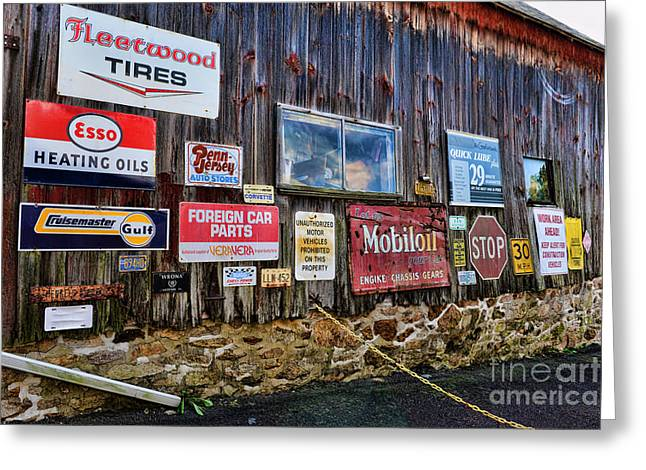 Esso Greeting Cards - Gas Station Signs Greeting Card by Paul Ward