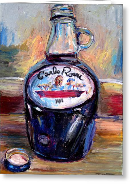 Merlot Pastels Greeting Cards - Gasoline Wine Greeting Card by Thomas Daseler