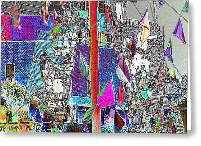 Gasparilla Pirates Invade Tampa Greeting Card by Carol Groenen