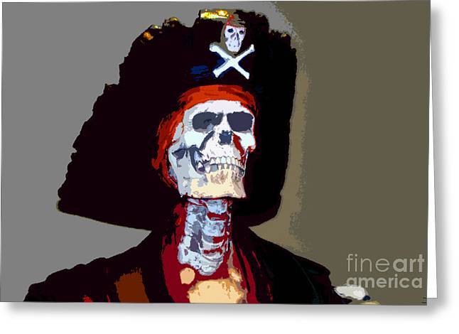 Buccaneer Digital Art Greeting Cards - GASPARILLA work number 5 Greeting Card by David Lee Thompson
