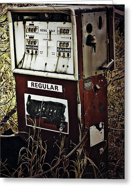 Gaspump  Greeting Card by Jerry Cordeiro