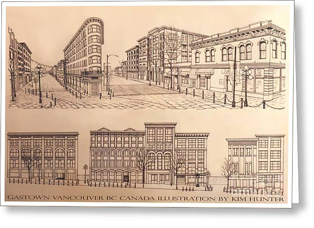 Gastown Vancouver Canada Prints Greeting Card by Kim Hunter
