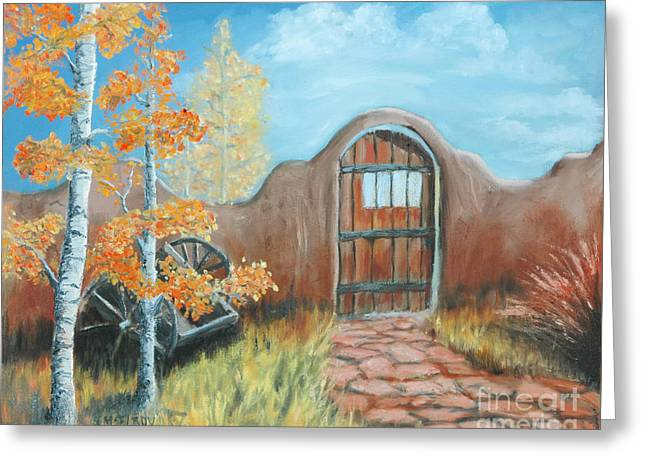 Adobe Greeting Cards - Gate by the San Juan Greeting Card by Jerry McElroy