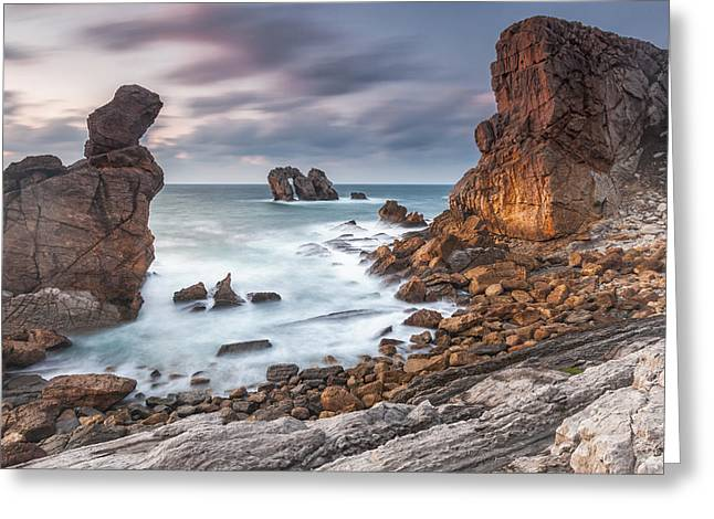 Atlantic Greeting Cards - Gate In the Ocean Greeting Card by Evgeni Dinev