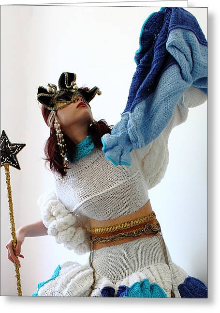 Knitted Dress Greeting Cards - Gate Keeper of my fantasy land 3 Greeting Card by Ema Ishii