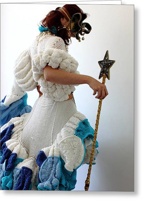 Knitted Dress Greeting Cards - Gate keeper of my fantasy land 4 Greeting Card by Ema Ishii