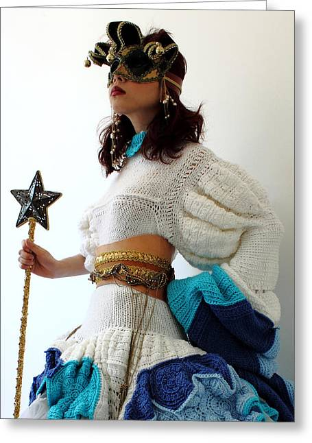 Knitted Dress Greeting Cards - Gate keeper of my fantasy world 5 Greeting Card by Ema Ishii