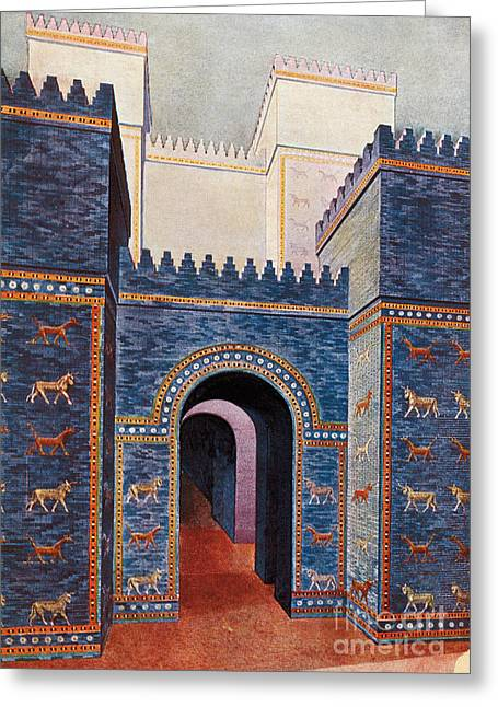 Babylon Greeting Cards - Gate Of Ishtar, Babylonia Greeting Card by Photo Researchers