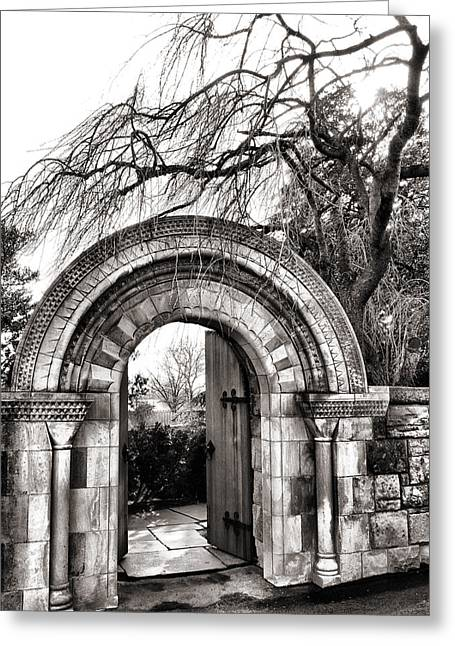Religious Framed Prints Greeting Cards - Gate to Bishops Garden Greeting Card by Steven Ainsworth