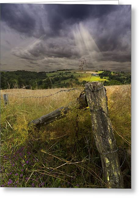 Gate To Heaven Greeting Card by Debra and Dave Vanderlaan