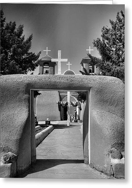 Taos Greeting Cards - Gate To San Francisco de Asis Greeting Card by Steven Ainsworth