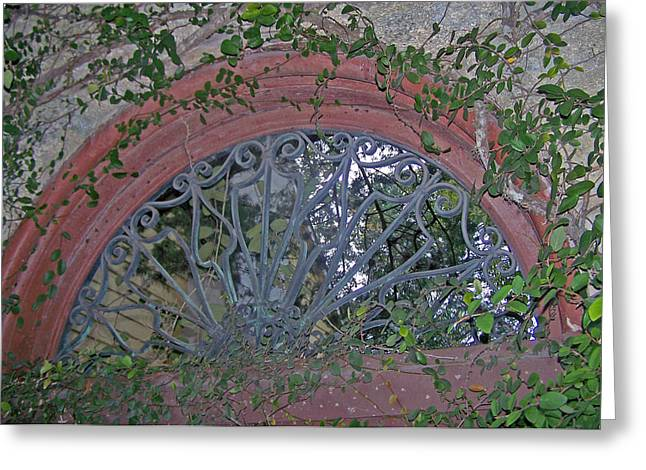 Gate To The Courtyard Greeting Card by Patricia Taylor
