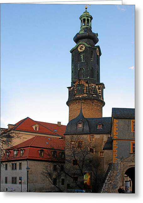 Historical Site Greeting Cards - Gatehouse Weimar City Palace Greeting Card by Christine Till