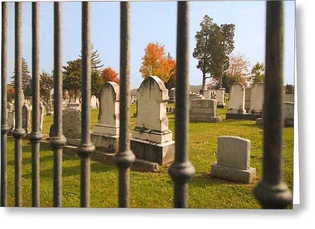 Headstones Greeting Cards - Gates of Heaven Greeting Card by Mick Burkey