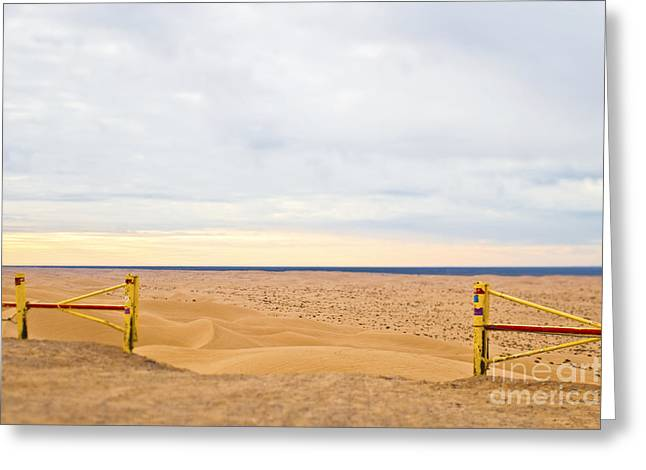 Us Open Photographs Greeting Cards - Gates to Beach Greeting Card by Eddy Joaquim