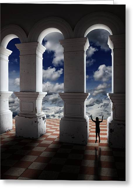 Pearly Gates Greeting Cards - Gateway of Pearly Hall Greeting Card by Gwoeii Ho
