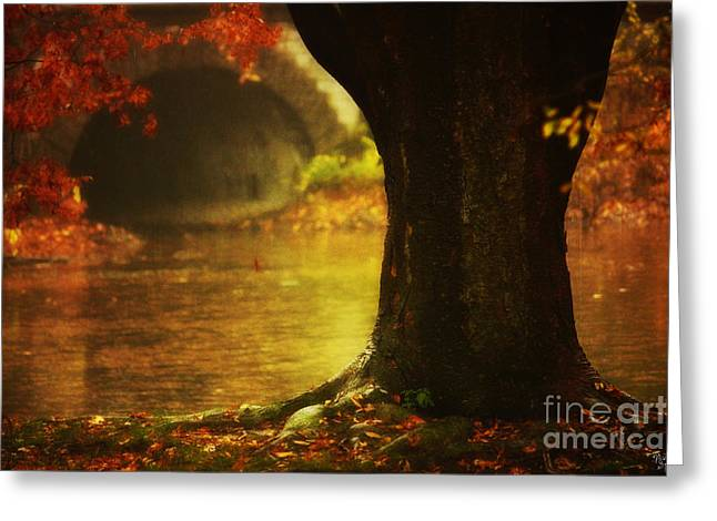 Autumn Landscape Poster Greeting Cards - Gateway to Fantasy Land  Greeting Card by Nishanth Gopinathan
