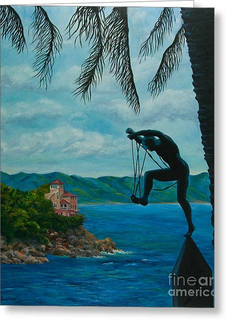 Portofino Italy Art Greeting Cards - Gateway to Portofino Greeting Card by Charlotte Blanchard