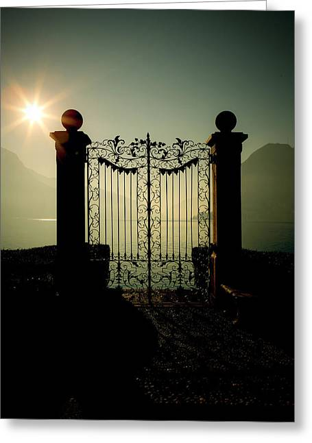 Gateway To The Lake Greeting Card by Joana Kruse