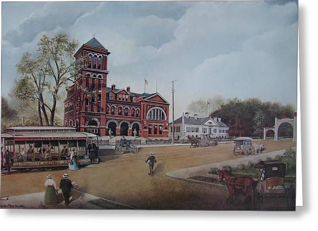 Charlotte Paintings Greeting Cards - Gateway to the Queen City Greeting Card by Charles Roy Smith