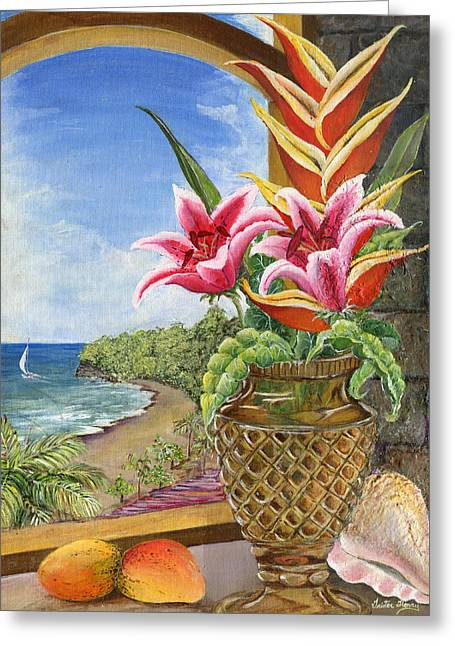 Mango Paintings Greeting Cards - Gathered Beauty Greeting Card by Trister Hosang