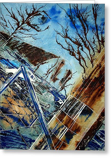 Milton Keynes Greeting Cards - Gathering Cars in MK Greeting Card by Cathy S R Read
