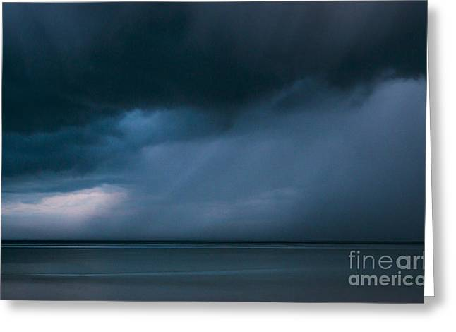 Storm Clouds Cape Cod Greeting Cards - Gathering Storm Greeting Card by John Greim