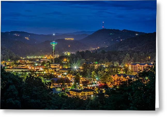 Gatlinburg And The Smokey Mountains Greeting Card by Brian Young