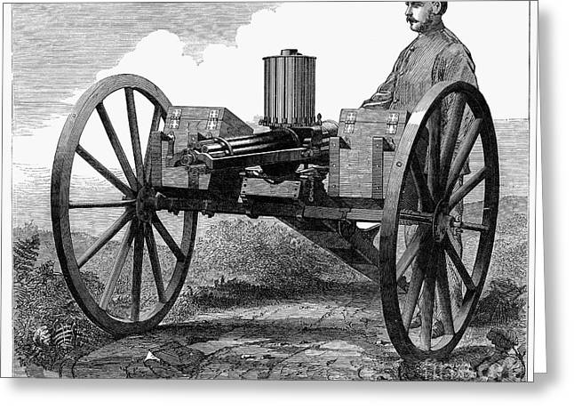 GATLING GUN, 1872 Greeting Card by Granger
