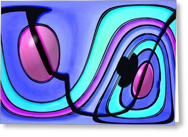 Geometric Digital Art Greeting Cards - Gaucho Greeting Card by Paul Wear