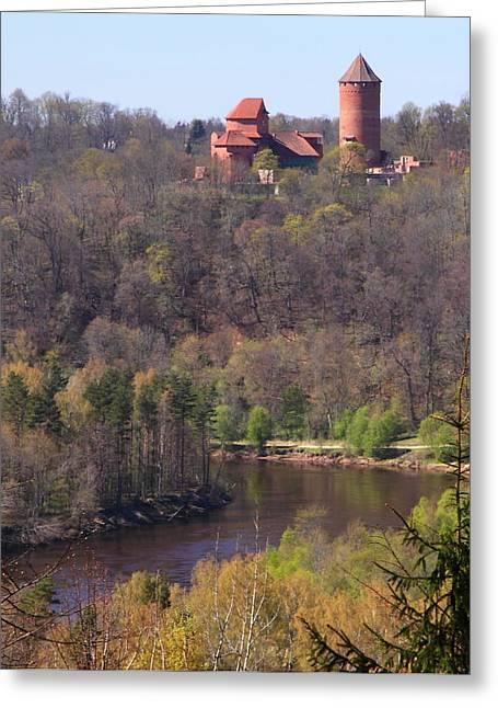 Rand Park Greeting Cards - Gauja river Turaida Greeting Card by Igors Parhomciks